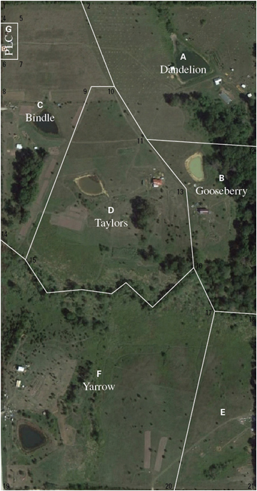 Aerial map of Red Earth Farms